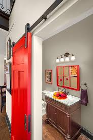bathroom door ideas barnyard door bathroom i built a rustic modern king bed and