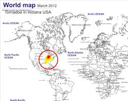 indiana map us tornado indiana us 2012 map
