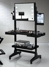 makeup dresser with lights black makeup table lesgavroches co