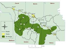 me a map of arkansas what do you think about elk in arkansas survey