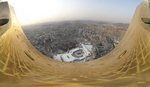 view of masjid al haram and the city of makkah from the top of the