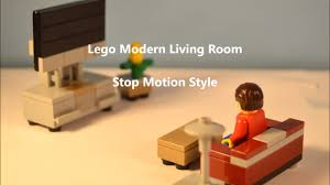 Modern Living Furniture Modern Lego Living Room Furniture Stop Motion Build Youtube