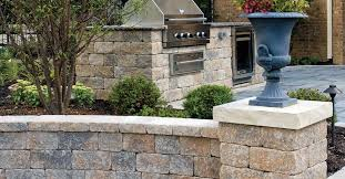 garden fence with bars engineered stone estate wall unilock
