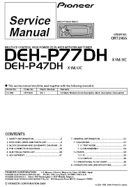 pioneer deh p77dh wiring diagram pioneer wiring diagrams collection