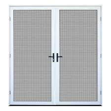 Unique Home Designs  In X  In White Recessed Mount Outswing - Unique home designs security door