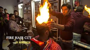 fire hair cut is now in dhaka ice today