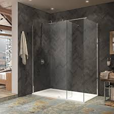 kudos ultimate 2 8mm wet room glass shower panel 500