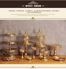 cake stands wholesale aliexpress buy wedding decoration gold wedding dessert tray