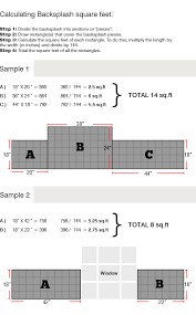how to measure for kitchen backsplash how to calculate backsplash area kitchen granite