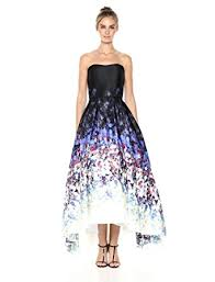 betsy and adam betsy adam women s strapless floral gown at women s