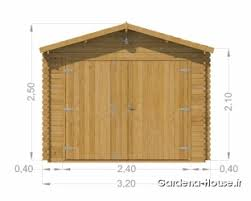 porte box auto garage en bois magarage en bois massifssif naturel de 16 m皺