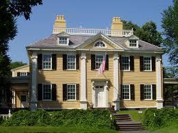 Georgian House Longfellow House Cambridge Massachusetts Example Of Typical