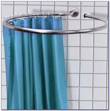 Shower Curtain Rod Home Depot Dazzling Round Shower Curtain Rod Round Is Practical For Bathtub