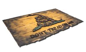 Gadson Flag Gadsden Flag Don U0027t Tread On Me Limited Edition Weathered Wood