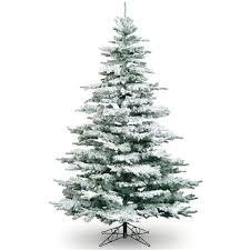 8ft medium flocked noble artificial tree white