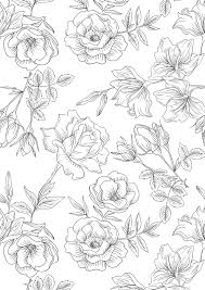 free floral printable colouring sheets gathering beauty