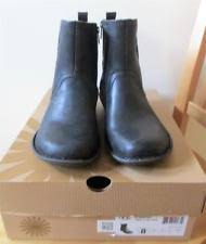 s ugg australia black joey boots ugg australia leather ankle medium b m boots for ebay
