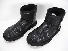 s ugg australia black emalie boots ugg australia leather booties for ebay