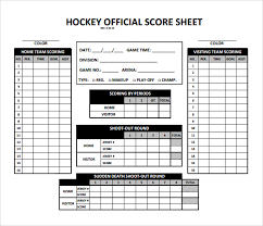 sample hockey score sheet
