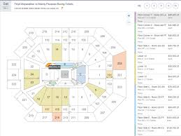 how much are floyd mayweather vs manny pacquiao tickets sellling