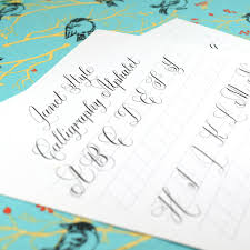 janet style free calligraphy worksheet exemplar the postman u0027s knock