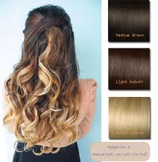 honey brown hair with blonde ombre brown blonde ombre indian remy clip in hair extensions ms053027h27