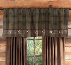 rustic curtains cabin window treatments country western window