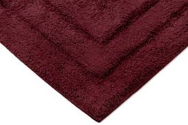 Burgundy Bathroom Rugs Archangel Soft Debossed Solid Bath Mat Rug With Backing