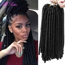 crochet black weave hair faux locs crochet braids dreadlock extensions synthetic hair weave