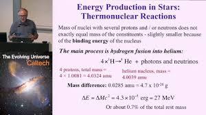 energy generation in stars caltech coursera