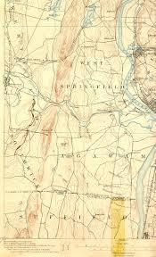 Springfield Massachusetts Map by Springfield Ma Ct Quadrangle