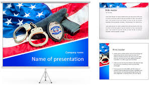 free law enforcement powerpoint templates police badge gun and