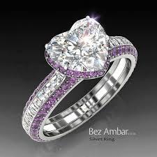 heart shaped wedding rings best 25 amethyst wedding rings ideas on beautiful heart