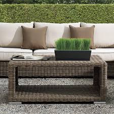 coffee table coffee table design rattan wicker ottoman half round