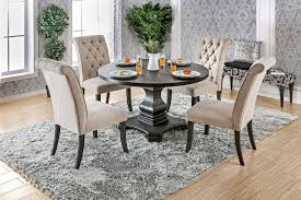 black round pedestal table furniture of america cm3840rt round dining table