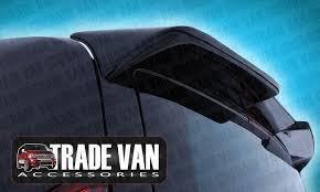 ford transit custom twin door spoiler rear spoiler painted