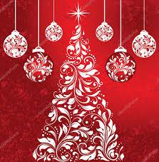christmas party damask invitation u2014 stock vector imagepluss