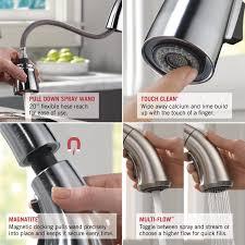 delta faucet 9178 rb dst leland single handle pull down kitchen