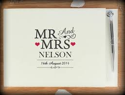 personalised wedding guest book personalised wedding guestbook personalised christmas