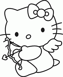 kitty coloring pages color cartoon characters