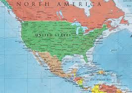 Latin America Map Countries by North America Continent North America Map List Of Countries In