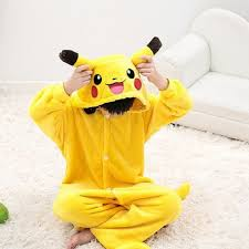 Halloween Onesie Costumes Cosplay Halloween Pikachu Costume Child Kids Pokemon Onesie