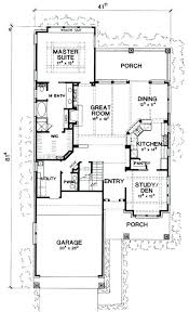 homes for narrow lots narrow home floor plans ideas small house plans for narrow lots