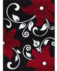 Black White Rugs Modern Savings On Rugs Modern Floral Black White Area Rug 5