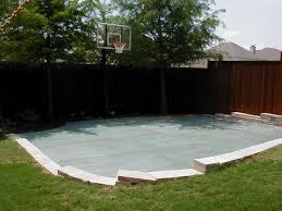 Backyard Basketball Court Ideas by Landscaping Around A Backyard Basketball Court Creative Juices