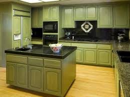 kitchen lovely green painted kitchen cabinets glass front