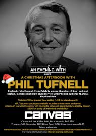 a christmas afternoon with phil tufnell canvas bournemouth