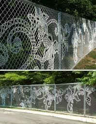 solar lights for chain link fence 6 decorated chain link fences curbly