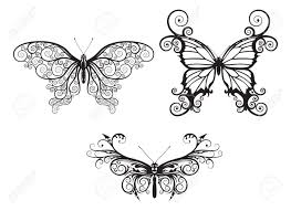 abstract pattern butterfly illustrations of stylised abstract butterflies with patterns