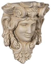 Buy Corbels Buyflauxstone Athena Head Shelf Corbel Travertine Stain